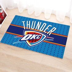 Yika Absorbent Soft Coral Velvet Non-slip Bathroom Floor Mat Rug NBA Oklahoma City Thunder (Multicolor)