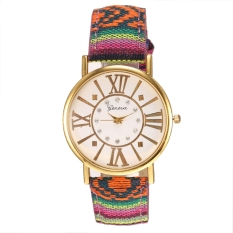 Yika Women Resin Rhinestone Round Quartz Analog Casual Watch (Type 3)