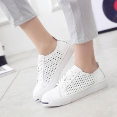 YINGLUNQISHI Women's Mesh Breathable Sneakers Casual Platforms Shoes (White) JC218 - INTL