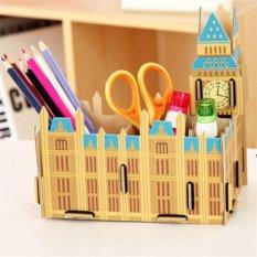 Yingwei DIY Wooden Stationery Organizer Storage Box Big Ben