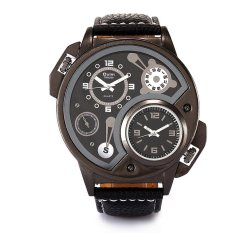 YJJZB Europe Radium Factory Wholesale Fashion Trend Of Foreign Trade Personality Men's Watches / Two Travel Time 2015 New HP3578