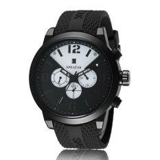 YJJZB Fashion Speatak Men's Sports Watch Three Eye Digital Dial Calendar Leisure Silica Gel Table