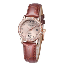 YJJZB Genuine Leather Strap Watch Brand Lovers Watch Wholesale Calendar One Generation Waterproof (1 X Women Watch)