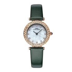 YJJZB IBSO Brand Luxury Crystal Watches Women Fashion Quartz Watch Waterproof 30m Genuine Leather Relogio Band Feminino Orologio Donna