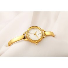 YJJZB KIMIO Quartz Watch Korean Female Female Models Hot New Watch Fashion Female Form 6011S (Gold)