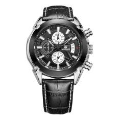 Yooc MEGIR Men Male Watch Waterproof Sports Watch Three Swiss Watches 2020G (Black)