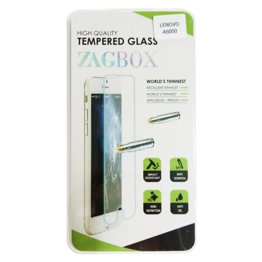 Zagbox Tempered Glass untuk Lenovo A6000 Plus - Clear