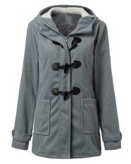 ZANZEA Warm Coat Long Wool Hoodies Outerwear Women Fashion Winter Coats (Intl)