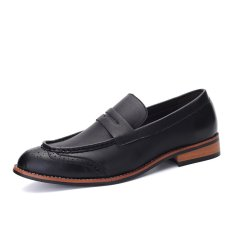 ZNPNXN Leather Men's Fromal Shoes Low Cut Shoes (Black) - Intl