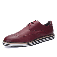 ZNPNXN Leather Men's Fromal Shoes Low Cut Shoes (Red) - Intl