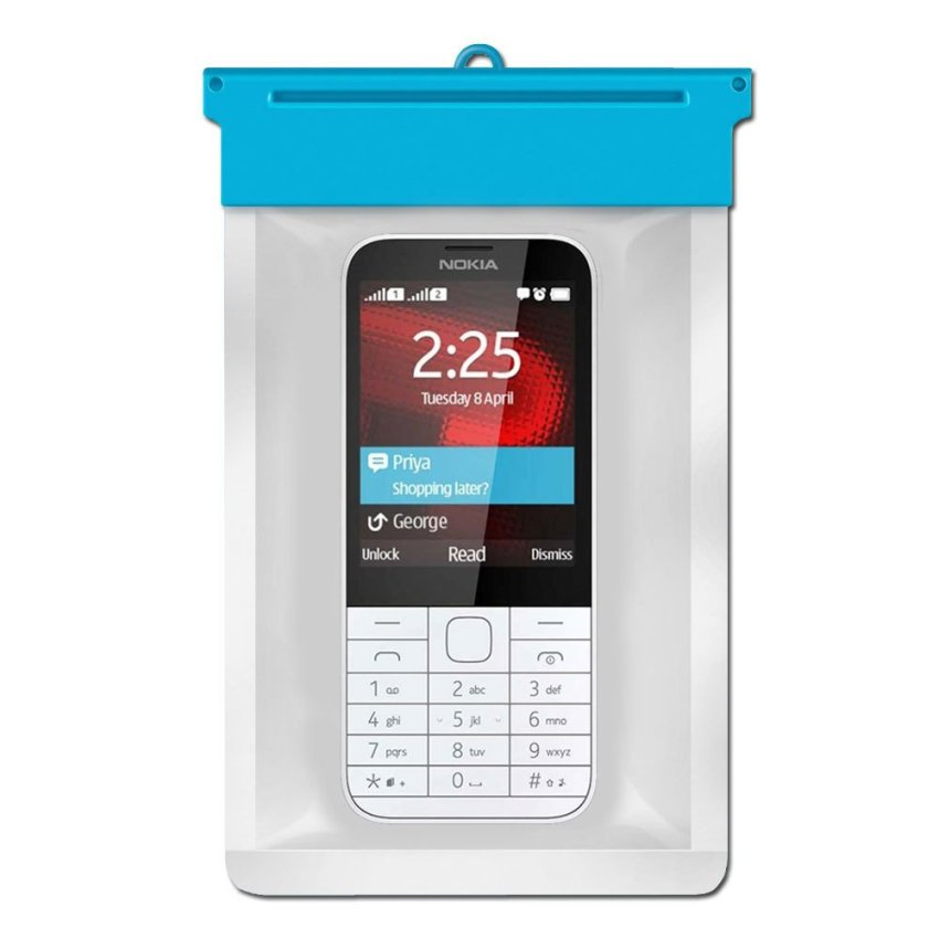 Zoe Nokia 225 Dual Sim Waterproof Bag - Biru