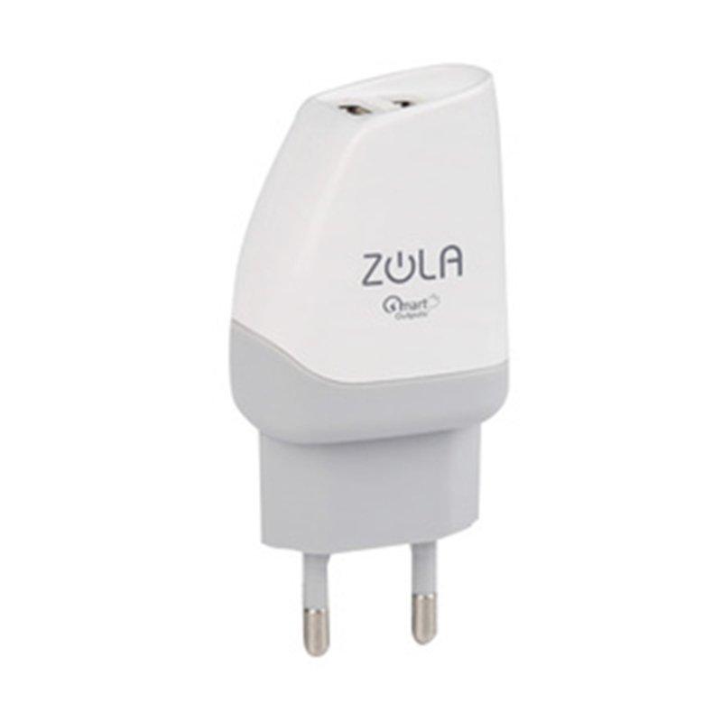 Zola USB Charger Putih abu-abu