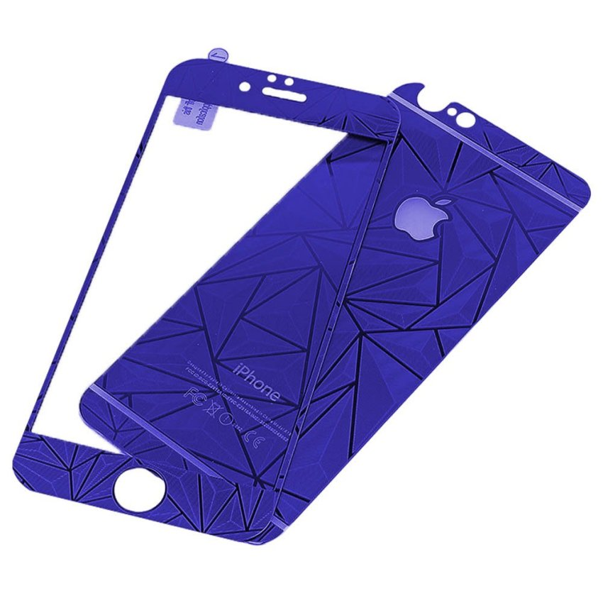 Zona Tempered Glass 3D Diamond Untuk iPhone 6 - Biru