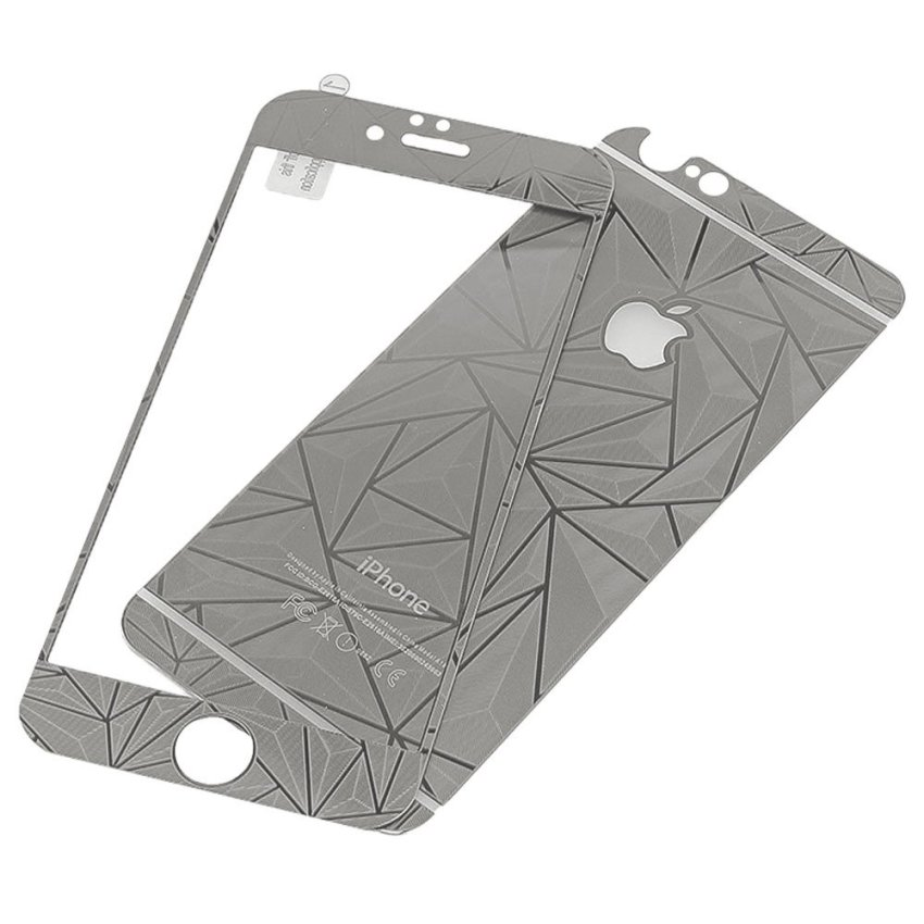 Zona Tempered Glass 3D Diamond Untuk iPhone 6 - Silver