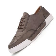 ZOQI Summer Man's Formal Low Cut Shoes Fashion Casual Comfortable Shoes-Cream