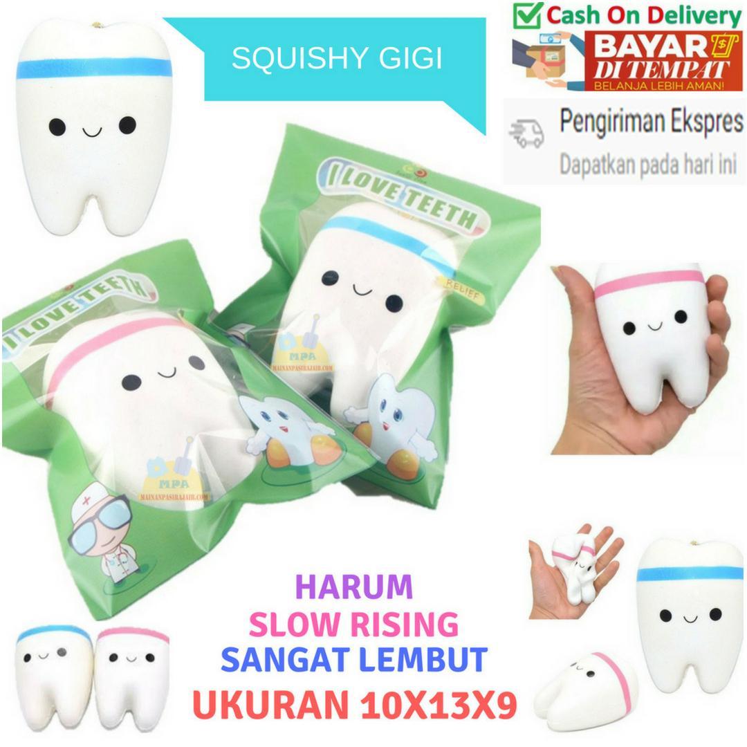 Mainan Anak Perempuan SQUISHY MURAH Squishy Tooth I Love Teeth Squishy Gigi Soft and Slow Rising