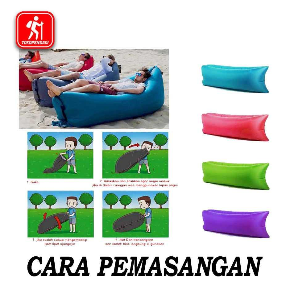 Best Seller!!! Kursi Angin Air Sofa Lazy Air Bed Kasur Malas Santai Camping Unik Murah Minimalis
