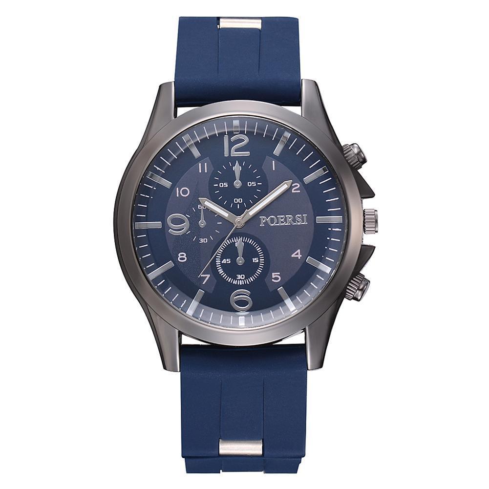Business Casual Men Quartz Watch Silicone Strap Wristwatch Sports Decor Malaysia
