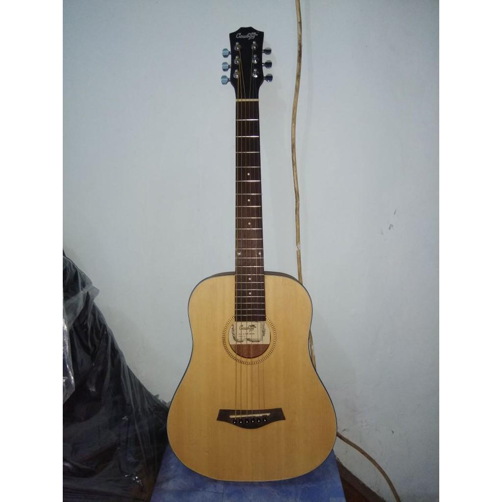 Gitar Akustik Cowboy 3 Per 4 Natural Jakarta Murah