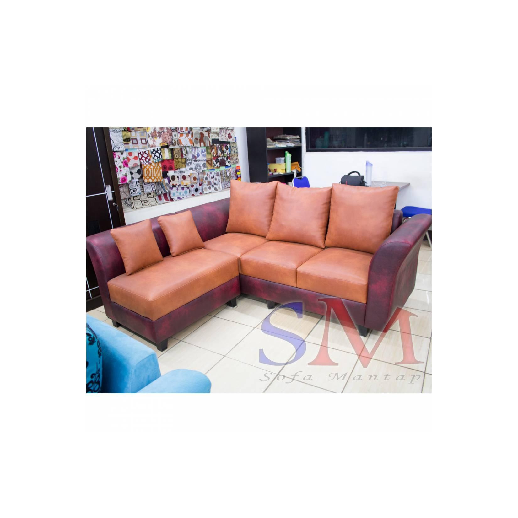 Sofa kursi ruang Tamu Minimalis mewah, sofa sudut kantor modern + MEJA
