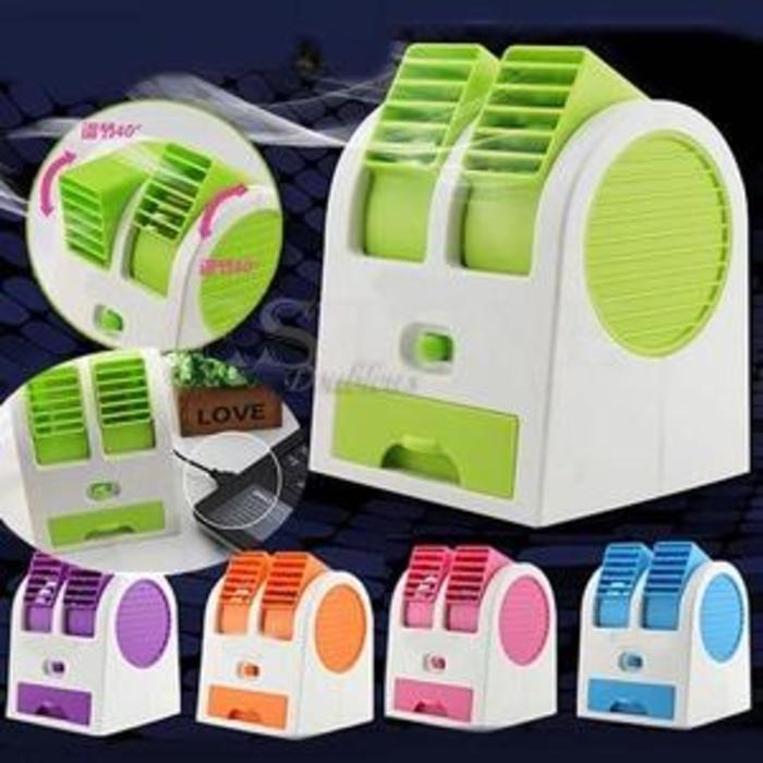 baru AC Mini Portable Double Cooler Fan / Kipas Angin Aromaterapi Parfum/ terbaru/ terlaris