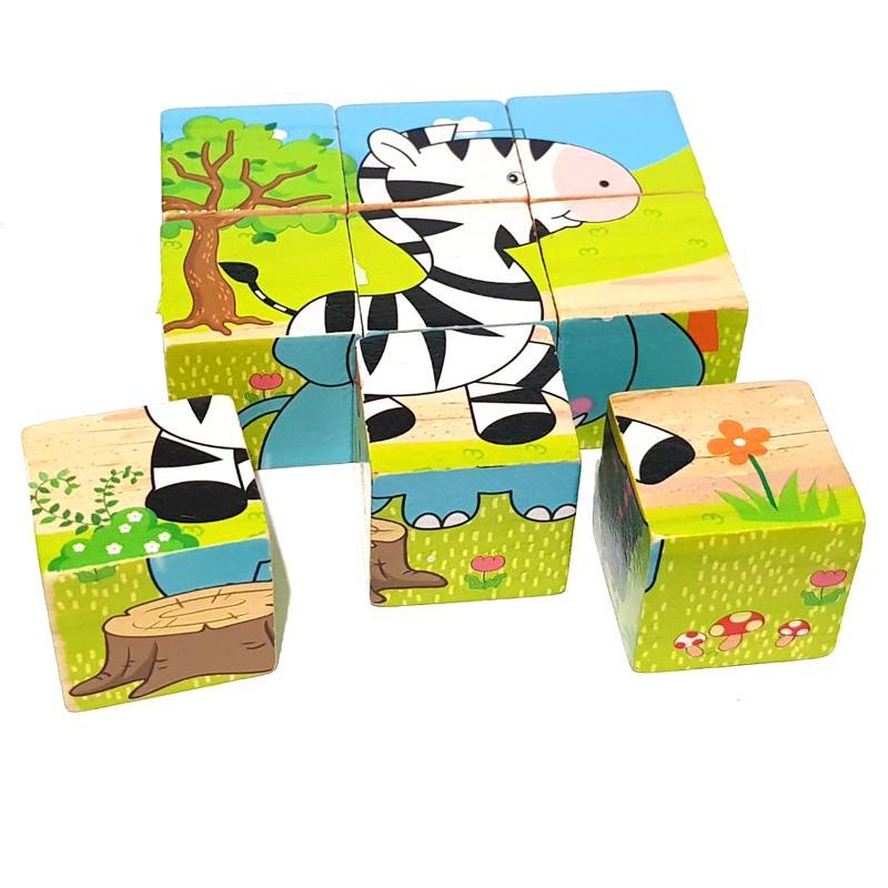 Gambar Produk Rinci Kayla Org Mainan Edukasi Puzzle 6 in 1 Binatang Hutan Terkini