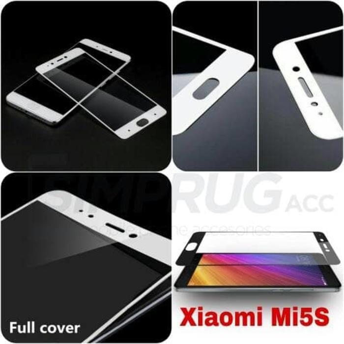 Anti Gores Tempered Glass Color Full Layar 2.5D 9H Xiaomi Mi5s Mi 5s - 2 ...