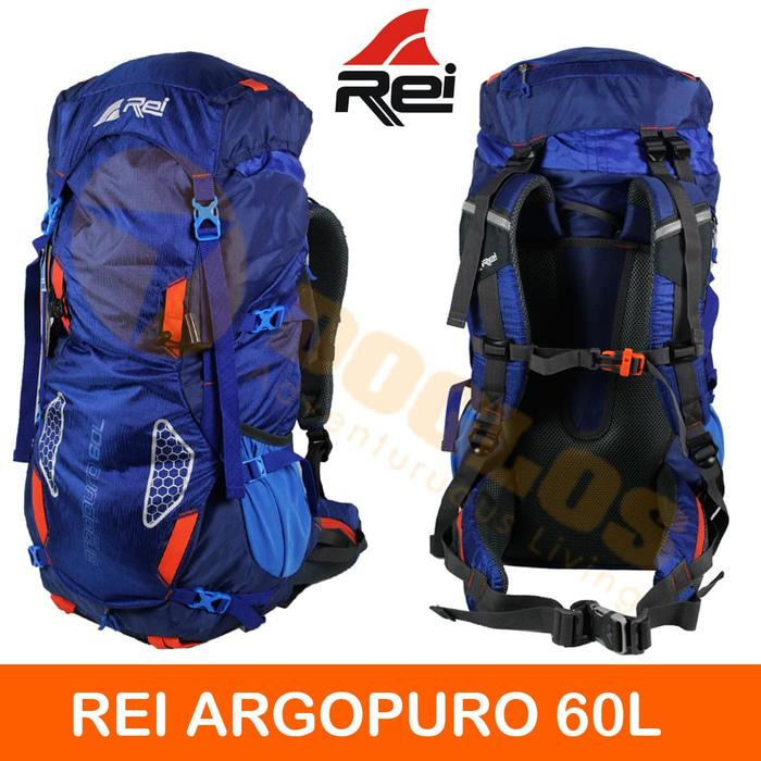 Tas Carrier Rei Argopuro 60 L Mountain Ransel Gunung Hiking Outdoor