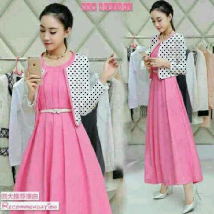 Set Dress Pink Lilian Polka Babyterry