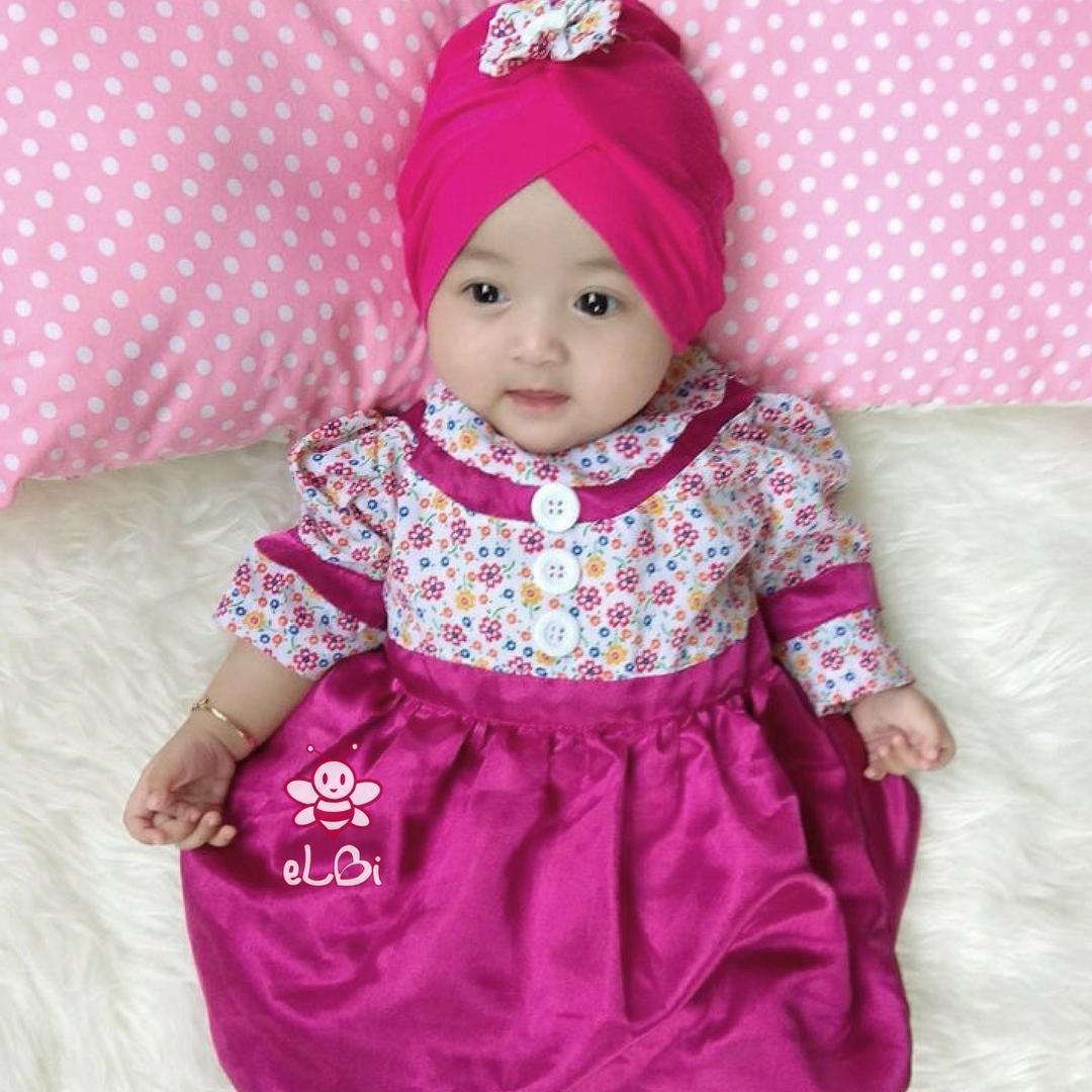 Kelebihan Baju Dress Pesta Anak Bayi Perempuan Brokat Rok Tile Hitam Brukat Kombinasi Elbi Gamis Muslim