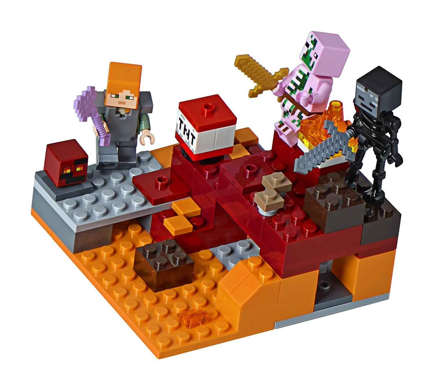 Fitur Lego Bricks Lepin Minecraft 18034 The Nether Fight Dan Harga 21132 Jungle Temple Detail Gambar Terbaru