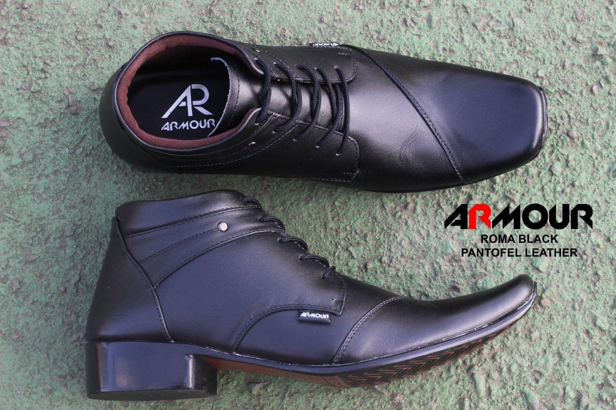 Sepatu Kulit Sepatu Kerja Pria Branded - A3 Hitam coklat pantopel pantofel  vantofel Sepatu VR 390 81937e33ab