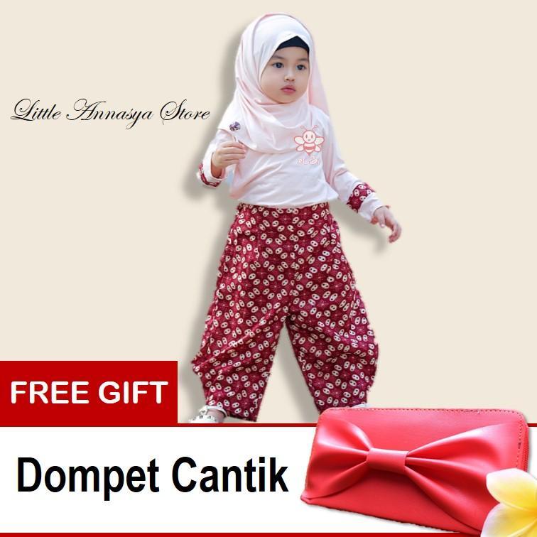 eLBi - Baju Muslim Anak Perempuan / Baju Muslim Balita Perempuan / Gamis Anak Perempuan / Hana Jasmine Series