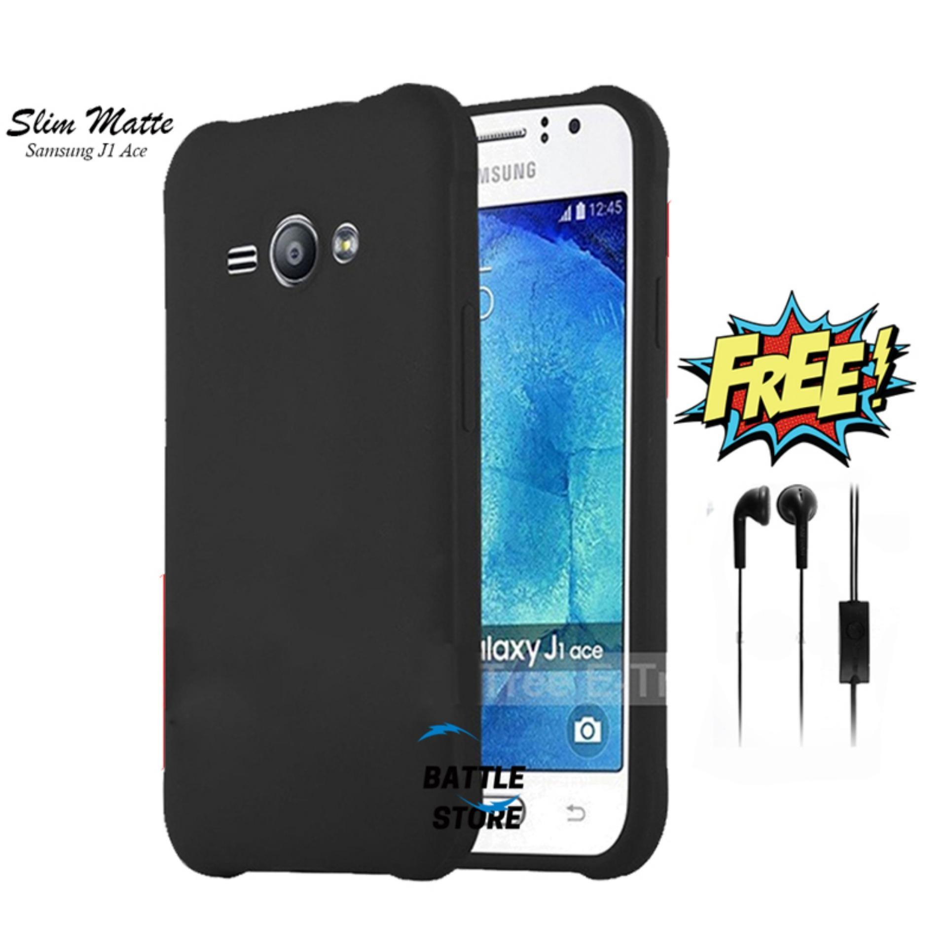 Case Slim Black Matte Samsung Galaxy J1 Ace J111f Baby Skin Softcase Ultra Thin