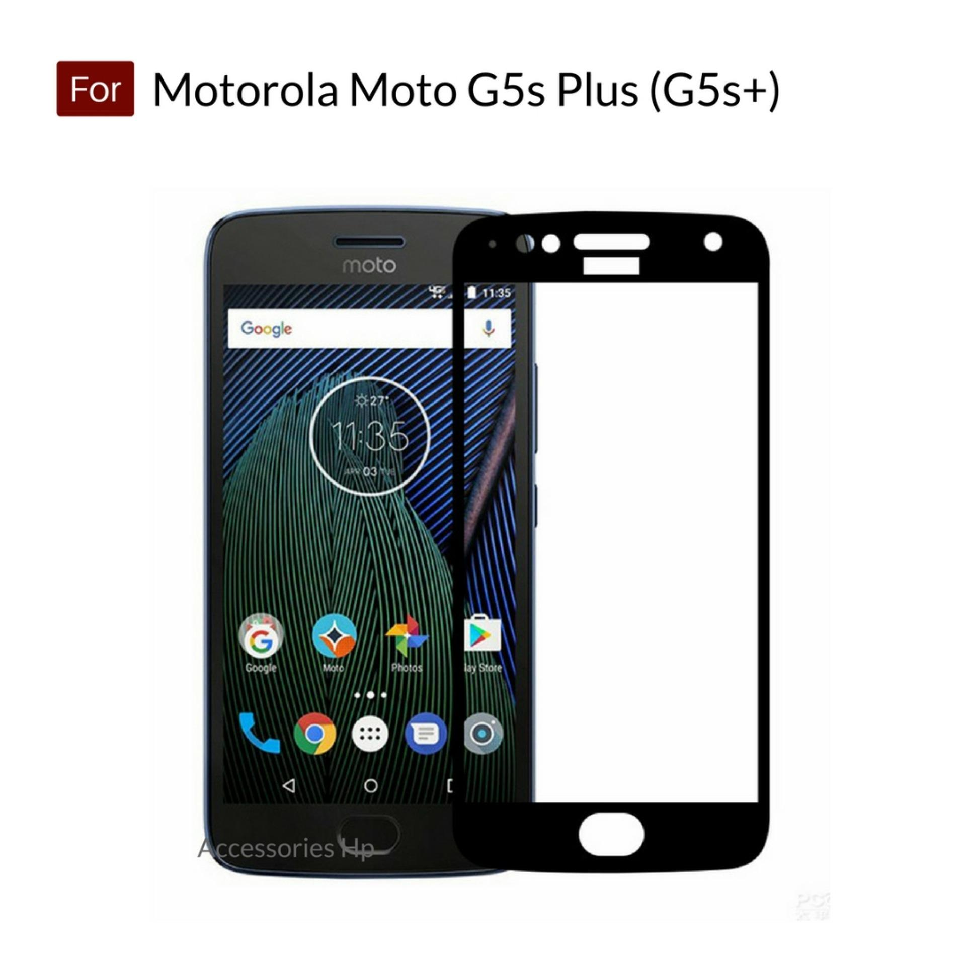 Accessories Hp Full Cover Tempered Glass Warna Screen Protector for Motorola Moto G5s Plus (G5s+) - Black