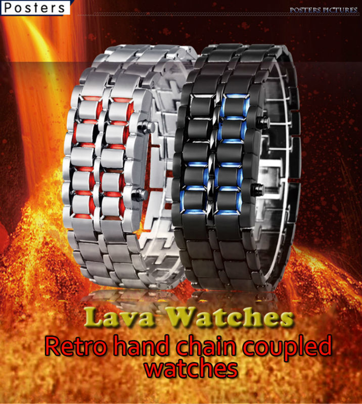 Band Material Type:Alloy Color:Silver Red light /Silver Blue light/ Black Red ligh /Black Blue Light Feature:LED display,Auto Date,Water Resistant