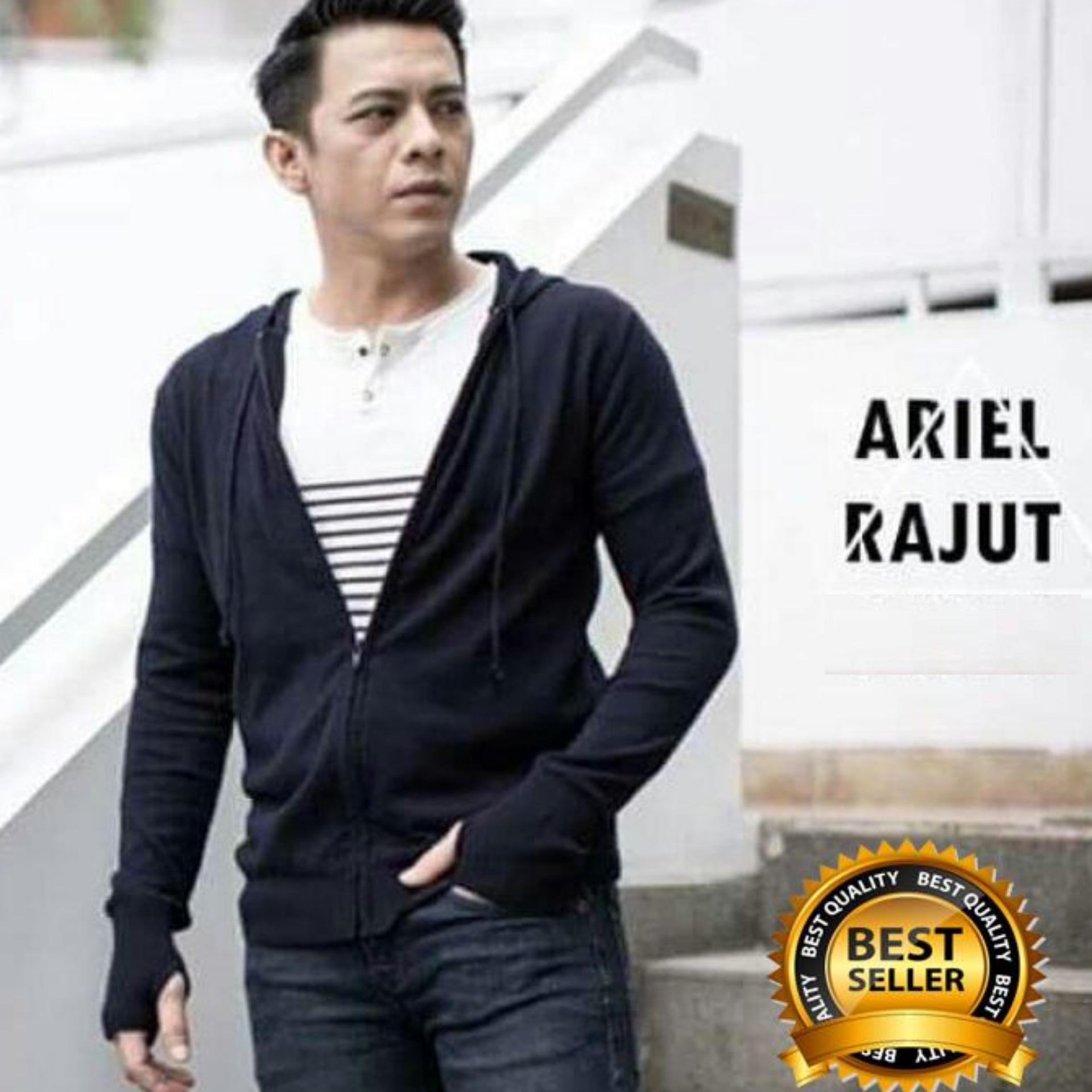 Zens Sweater Rajut Pria Ariel Noah Style/ Jaket Rajut Hoodie Knite Termurah Best Seller Fit to L -