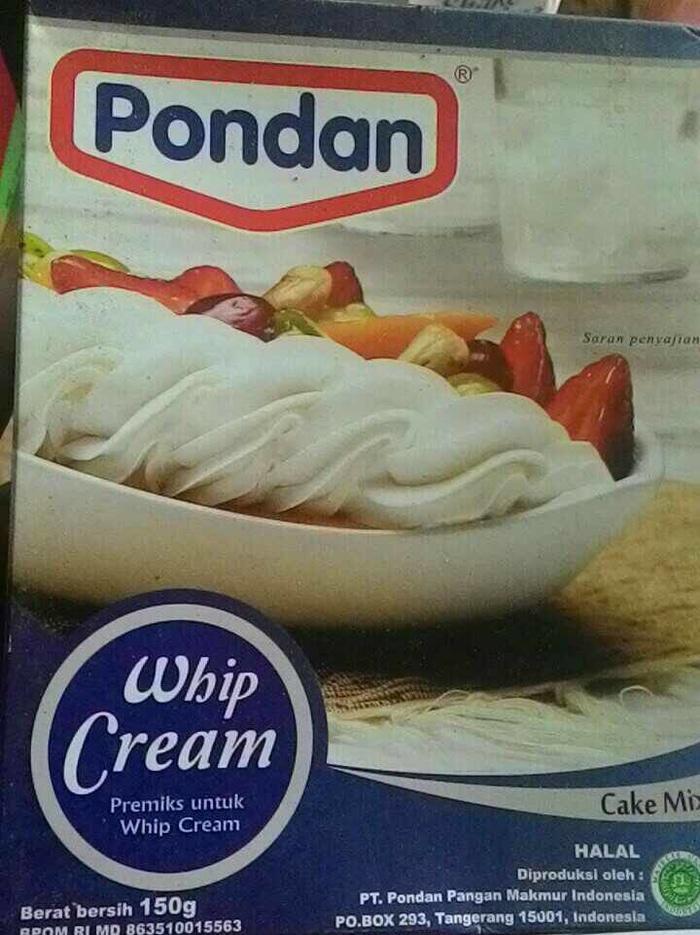 whip cream bubuk pondan 150 gr
