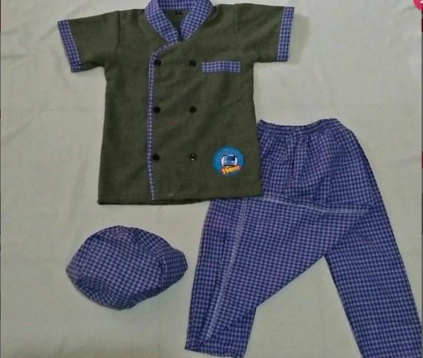Sarkoci Kokici 1-12 tahun - Sarung Celana Koko Koki Peci - Warna Acak