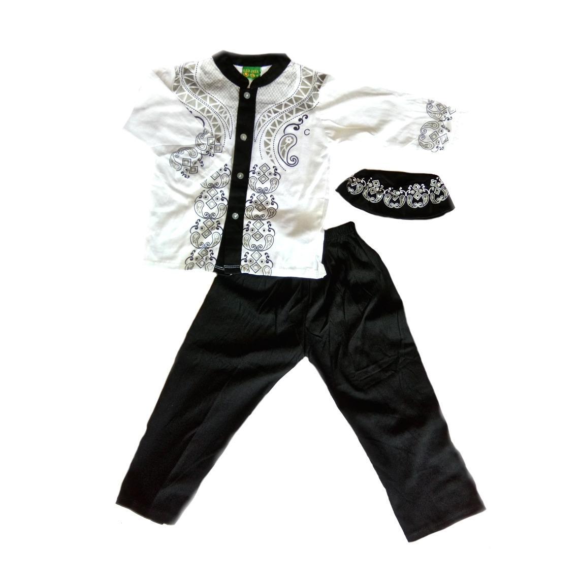 Baju Koko Zhafir Bayi dan Anak New - Baju Koko Bayi Baju Setelan Muslim Anak Laki - Laki Baju Set Anak Laki Laki - Warna Random / Acak