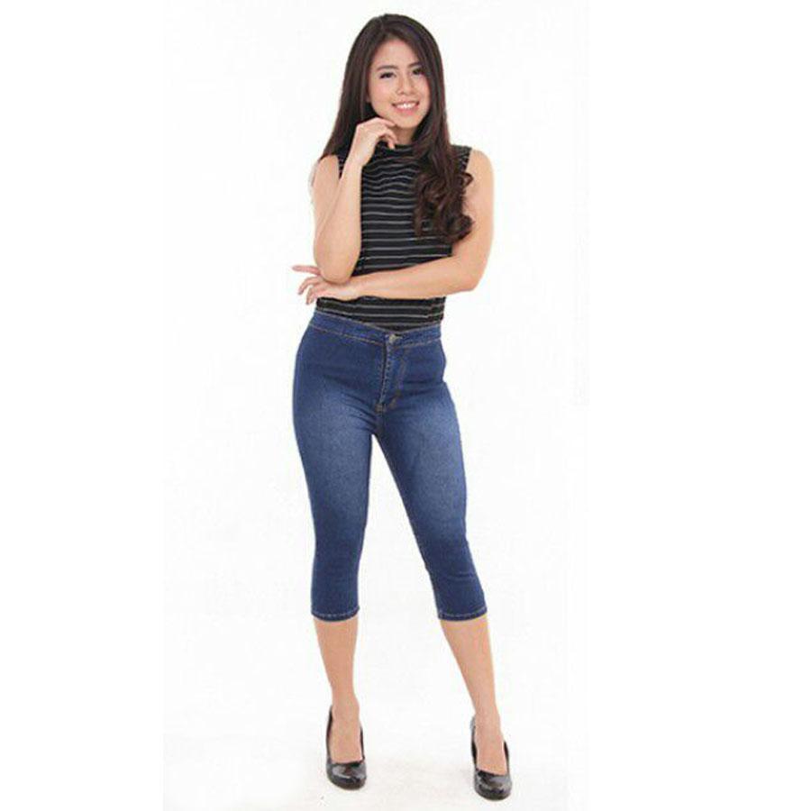 Celana Jeans Hasanah JSK 2705 7Per8 High Waist Blue Jeans