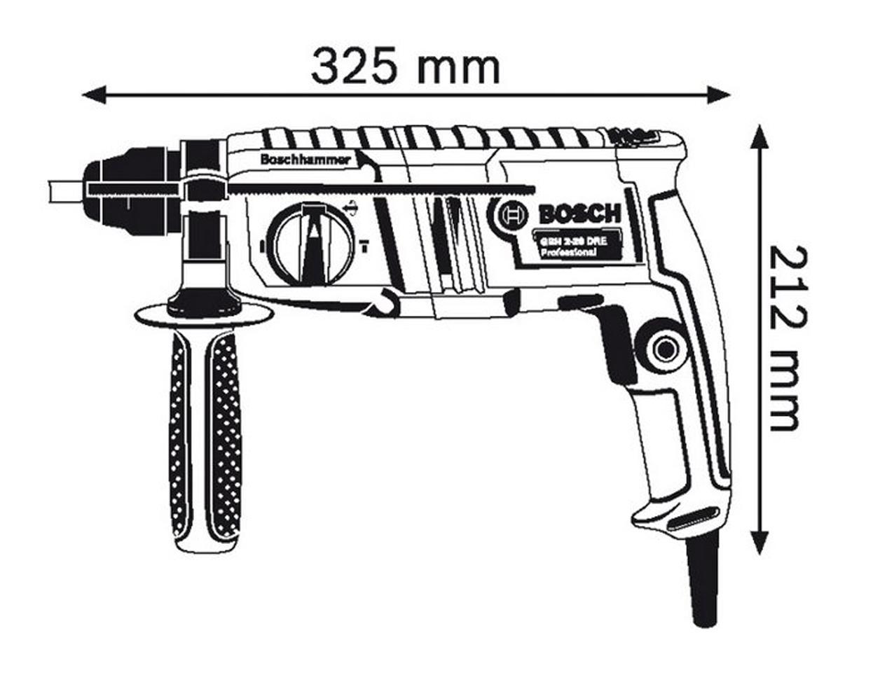 Cek Harga Baru Mesin Bor Demoliton Rotary Hammer Bosch Gbh 2 20 Dre 18 Re Demolition 3
