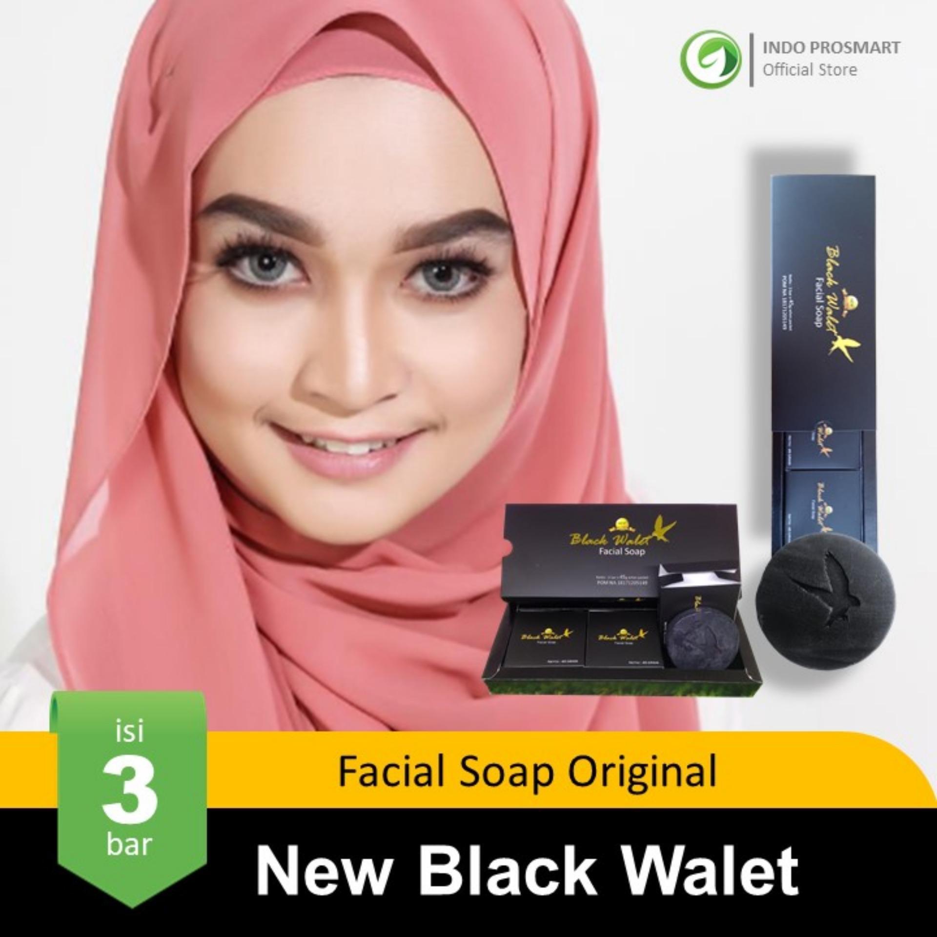 Buy Sell Cheapest New Sabun Black Best Quality Product Deals Muka Walet 1 Paket Isi 3 Bar Facial Soap Original