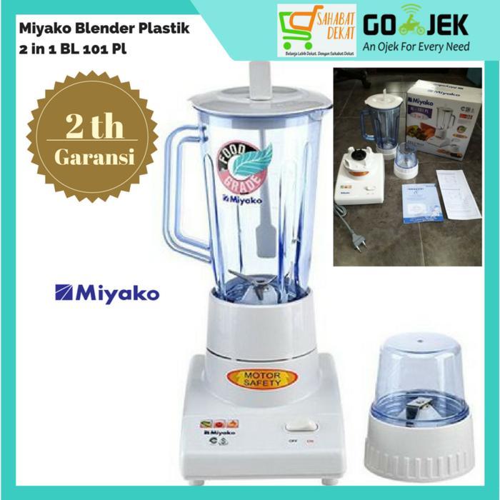 Miyako Blender Plastik Satu Liter 2 In 1 Garansi Murah Bagus Bergarans