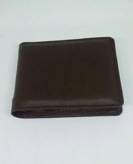 Dompet kulit pria Asli Garut model tidur coklat