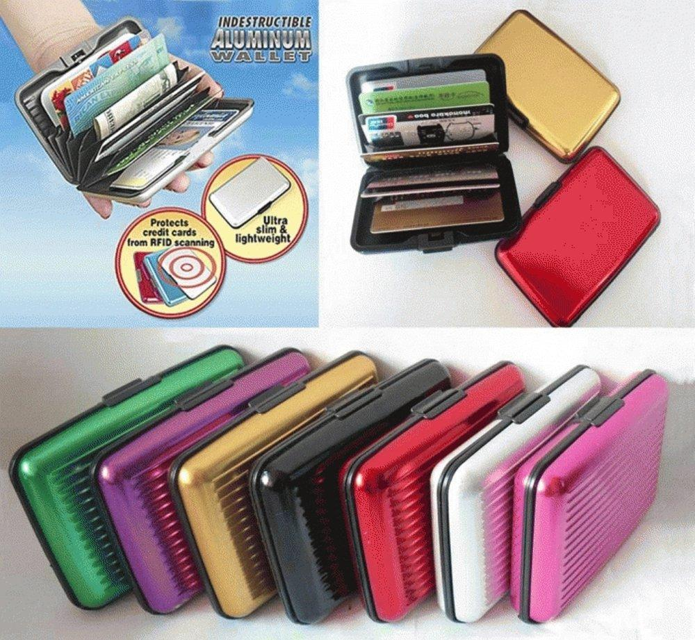 EDW 051 CARD CADDY DOMPET KARTU TAHAN AIR ALUMINIUM CASE ORGANIZER ANTI AIR WALLET KARTU KREDIT