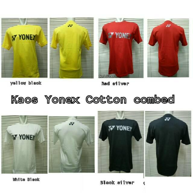 Kaos Baju Oblong Badminton Yonex Cotton Combed Termurah