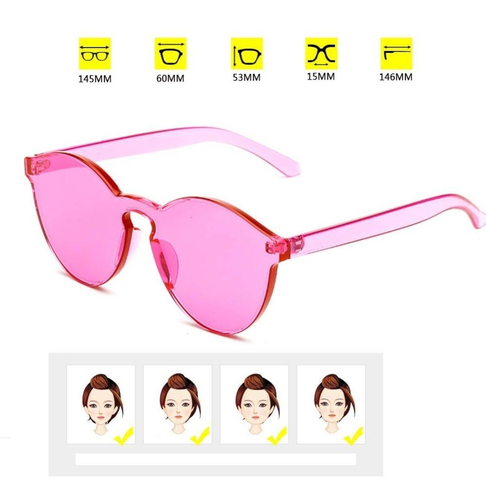 Female Frameless Kopel Kacamata Jelly Korea Sunglasses Colour Full ... 6ae635bca4