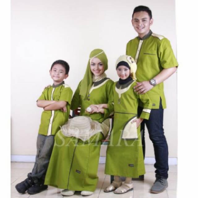 SR.B02 | Seragam keluarga sarimbit couple muslim baju gamis koko ayah ibu anak baru murah branded Koko Anak No 8 & 10