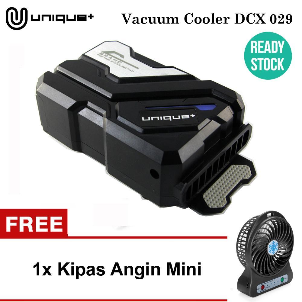 uNique Cooling Pad Hisap - Cooler Pendingin Laptop Universal - Cooling Fan Coolpad  DCX029 Black FREE KIPAS ANGIN MINI FRESH SUMMER RANDOM COLOR